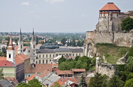 Upper and lower town of esztergom, Hungary