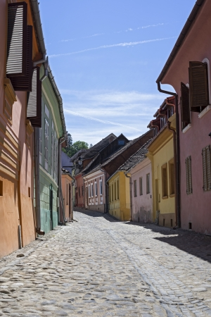 Small Street in the old town of Sighisoara, Romania Stock Photo - 19840399