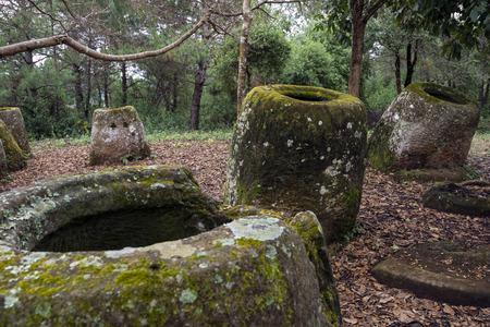 llanura: Una parte de la llanura de las jarras en Laos