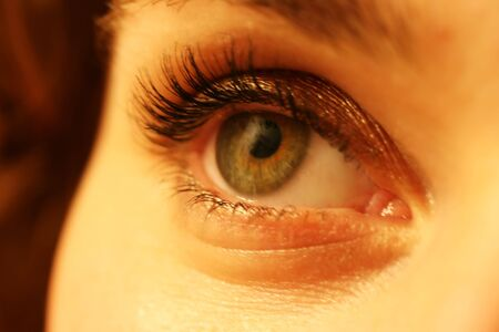 Soft close up of a woman�s eye with make-up