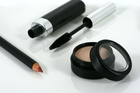 eyemakeup: Professional quality make up and cosmetic products  Stock Photo