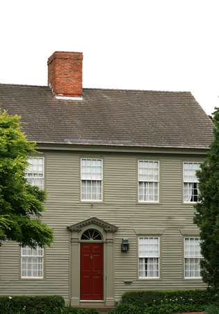 A traditional old New England home in Rhode Island