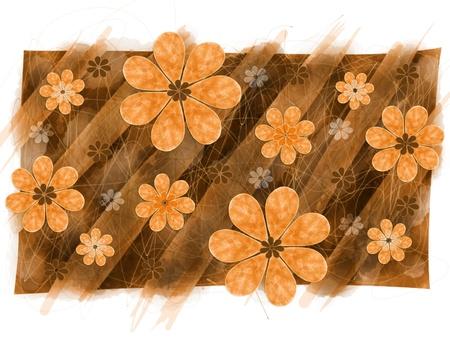 artwork: Digital artwork floral pattern graphic Stock Photo