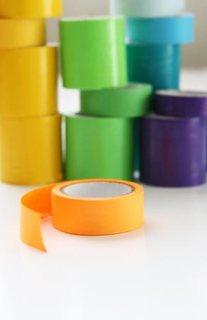 Colorful ribbon tape for scrap-booking
