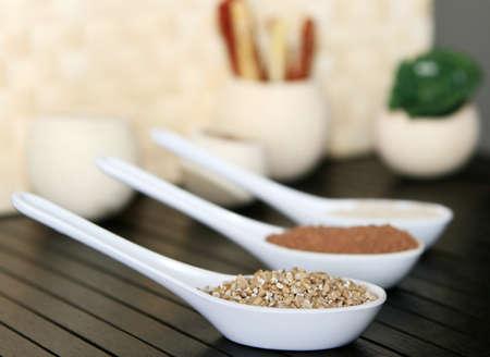 A detail photo of irish oatmeal spoonful