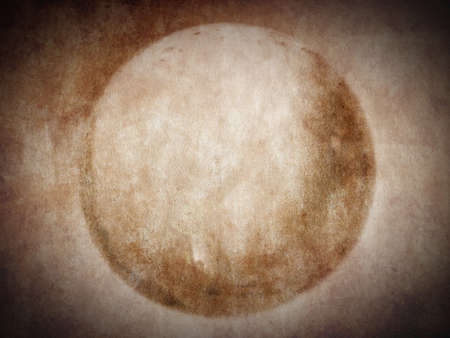 Grunge Illustration of a moon or planet