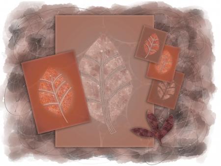 artwork: Autumn Leaves Digital Artwork Graphic Stock Photo