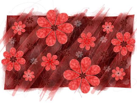 artwork: Floral digital artwork element