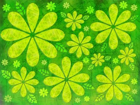 自然緑の葉と花の抽象的なイメージ 写真素材