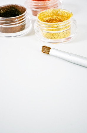 pigment: vertical image of powdered pigment with copyspace Stock Photo