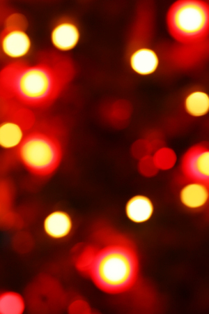 Glowing Defocussed Red Festive Lights Stock Photo
