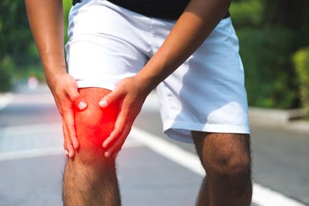 Man having knee pain. Zdjęcie Seryjne