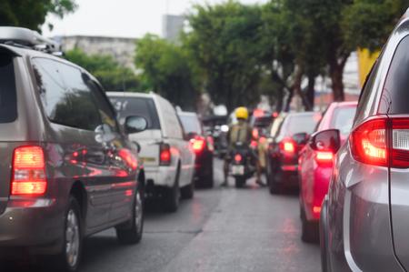 Traffic jam in urban city.