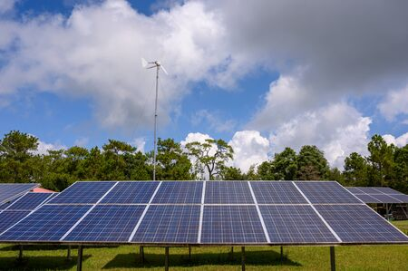 Special solar cells that have To change energy from sunlight Into electrical energy Clean energy That is environmentally friendly
