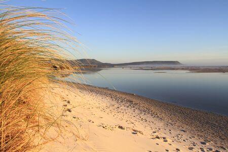 lagoon: Nooedhoek Beach Lagoon Stock Photo