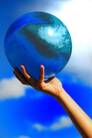 青い惑星 写真素材