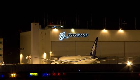 Boeing Plant at Boeing Field with the new 787 版權商用圖片 - 11078772