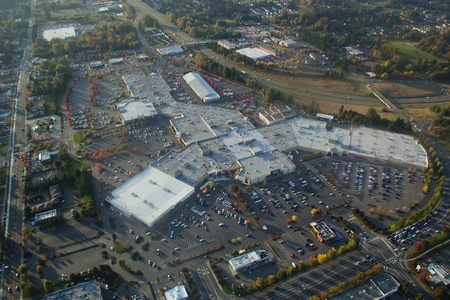 Aerial view of South Hill Mall in Washington