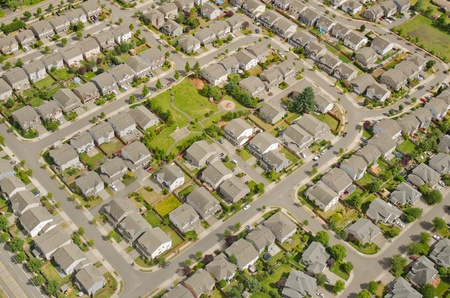 Small neighborhood in urban area Standard-Bild
