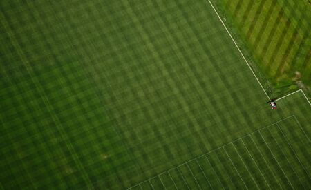 Grass texture at NFL training facility