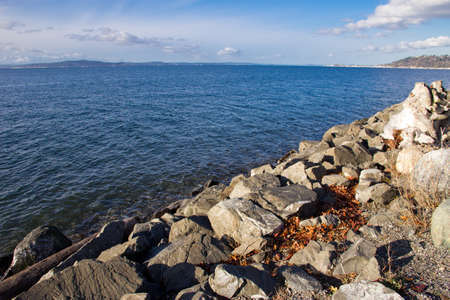 Beautiful, scenic view of Puget Sound in Seattle, Washington