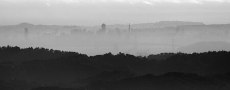 transamerica: View of San Francisco skyline from Mt  Diablo
