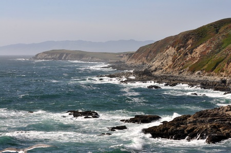 sonoma: Rocky northern California coast Stock Photo