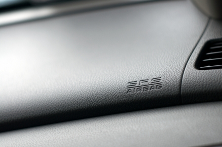 Close up detail of SRS Airbag inside a car photo