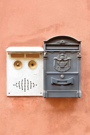buzzer: Italian mail box and door buzzer Stock Photo