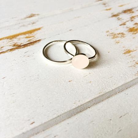 quartz: Rose Quartz Ring Stock Photo