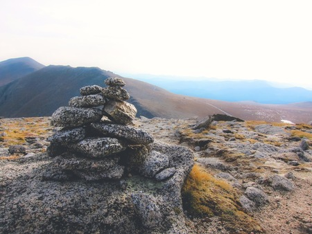 hiking cairn in the mountains