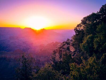 Pink sunrise explosion Stock Photo
