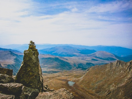 prominent cairn in colorado