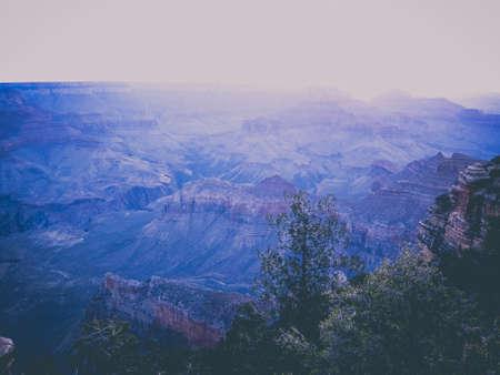 purple sunrise in the grand canyon Stock Photo