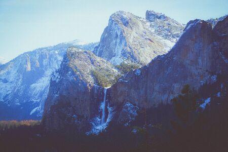 vintage hipster Yosemite outlook