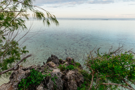 Private lagoon at dawn