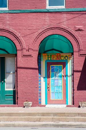 WHARTON, TX, FEBRUARY 2017:The Door in Wharton, Texas
