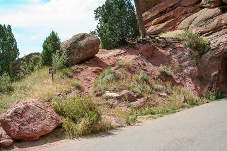 Along the road to Red Rocks Park, Denver Colorado