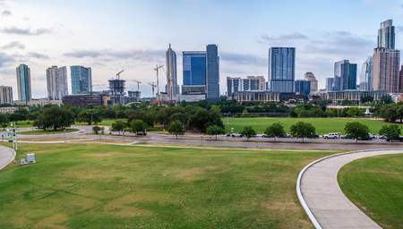 A view of downtown Austin from the Long Center