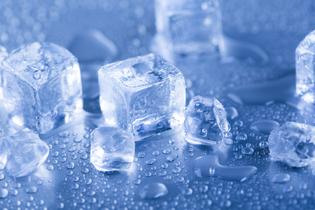 Ice cubes on the car