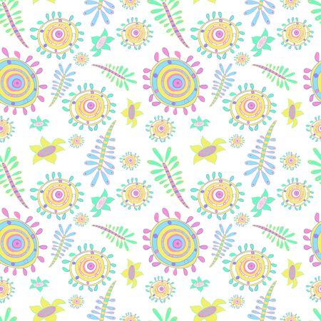 microbio: modelo abstracto de vector transparente con flores rayas, c�rculos, p�talos. Coloridos infantiles de microbios, g�rmenes estilo, animales, algas, flores. elementos rom�nticos para invitaciones de boda, cumplea�os