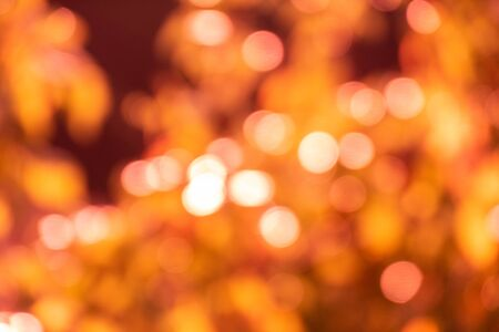 Colourful sun spots Bokeh - orange