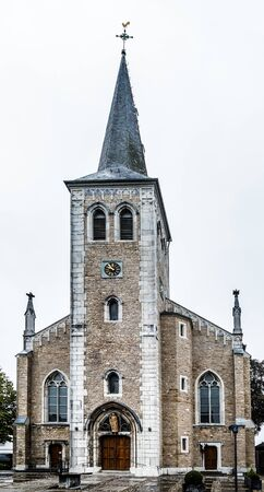 Front view on the Saint Barbara church, Alt Breinig