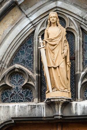 Statue of Saint Barbara with sword
