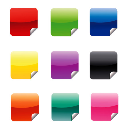 Square Icons Illustration