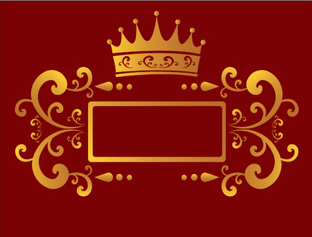 Red Gold Border