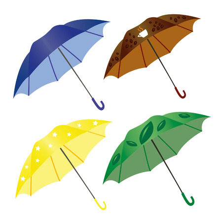 Umbrella Design Illustration