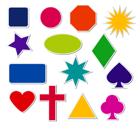 Sticker Shapes Illustration