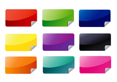 Rectangle Web Stickers Illustration