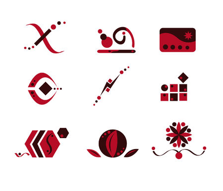Pink and Brown Logo Elements